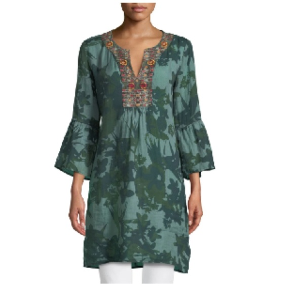 Johnny Was Dresses & Skirts - Johnny Was Flare-Sleeve Tunic Dress